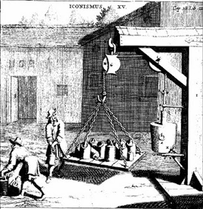 Otto von Guericke's experiment of 1672