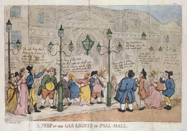 London's gas lights in 1809.