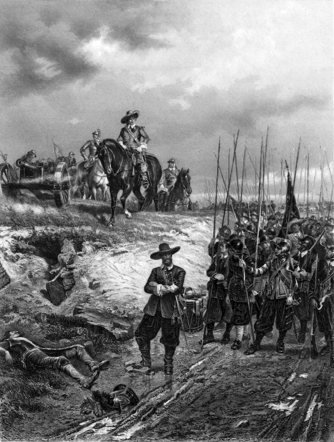 Cromwell at Marston Moor: Ernest Crofts, 19th century
