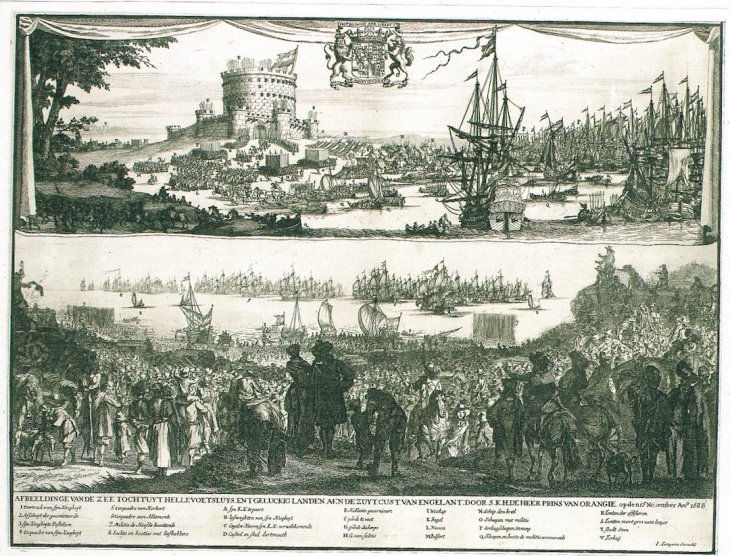 William III arrives in England