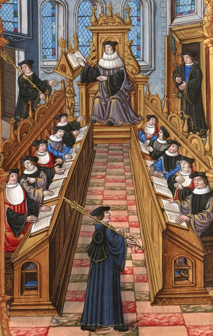 University of Paris, 14th century illustration