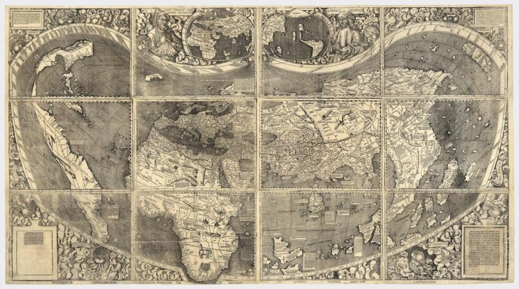 Waldseemüller depicted the New World in his map of 1507, and named it America in honour of Amerigo Vespucci