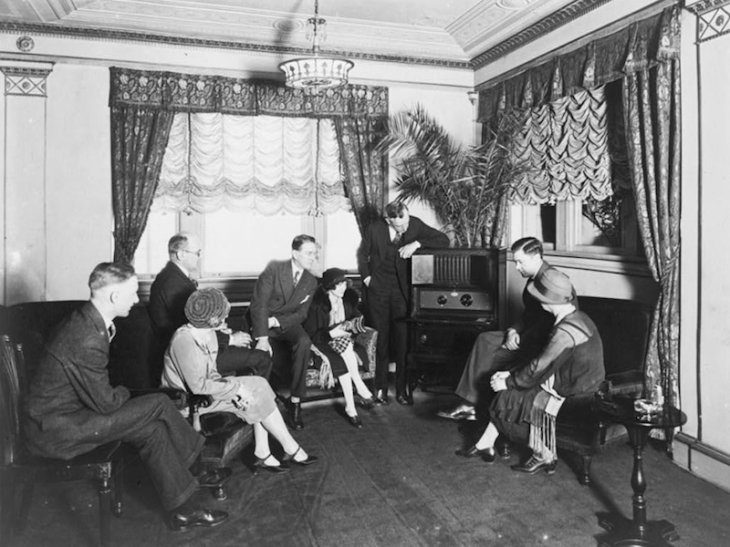 Radio listeners in the 1920s