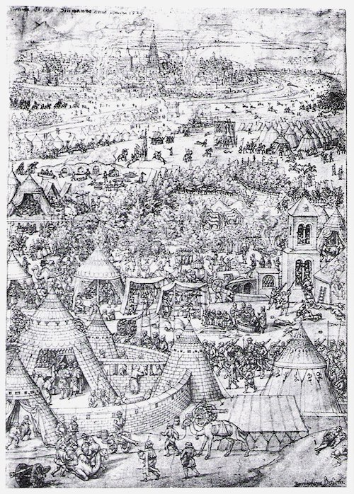 The siege of Vienna in 1529