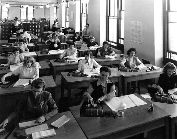 Computers at work in 1947